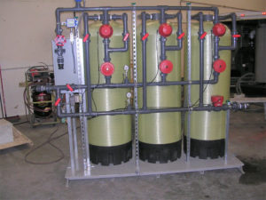Turnkey fiberglass filter skid, sand filters