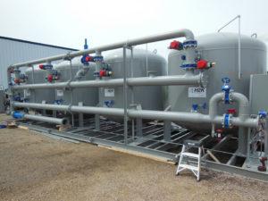 Turnkey sand filter skid, industrial filter tanks