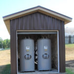 Carbon vessel shed, Water remediation system